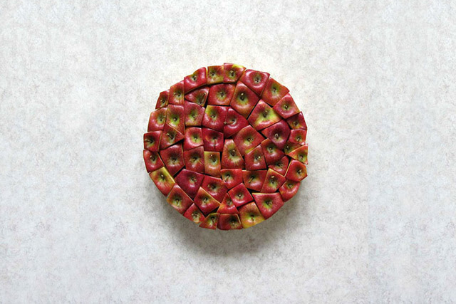 The Geometric Food Art of Sakir Gökçebag  vegetables geometry fruit food