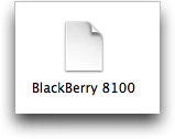 Blackberry Pearl script de módem para Mac OS X