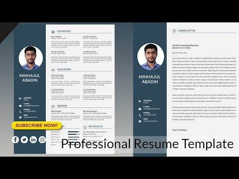 Best Resume template and cover letter templates free