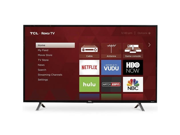 TCL 40S305 40 inch 3-Series Roku Smart HD TV for $229