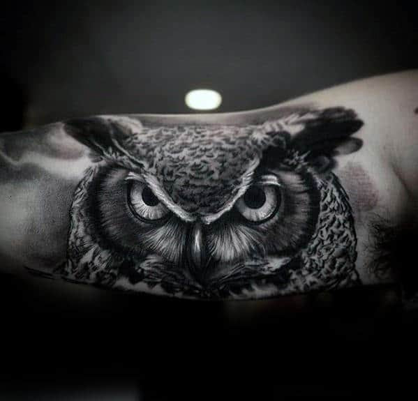 40 Realistic Owl Tattoo Designs For Men Nocturnal Bird Ideas