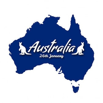 background with a blue map for australia day_1057 3446