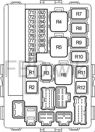 Infiniti G35 V35 2002 2007 Fuse Box Diagram