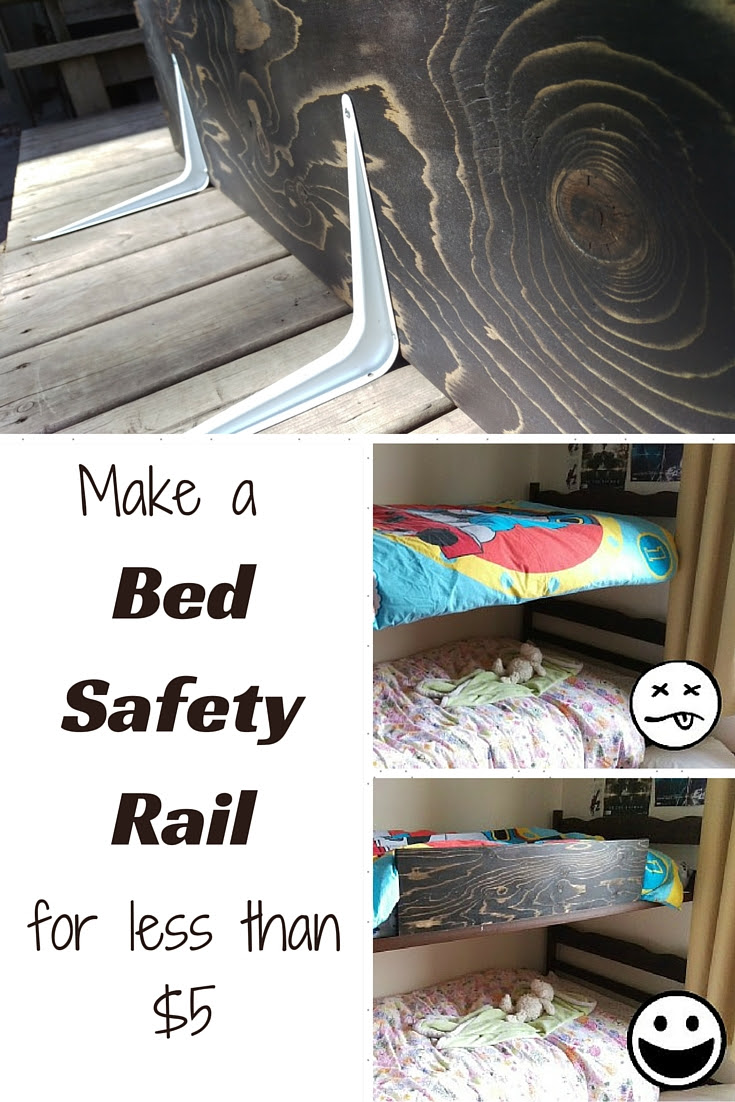 How To Make A Bed Safety Rail For Less Than 5 You Pinspire Me