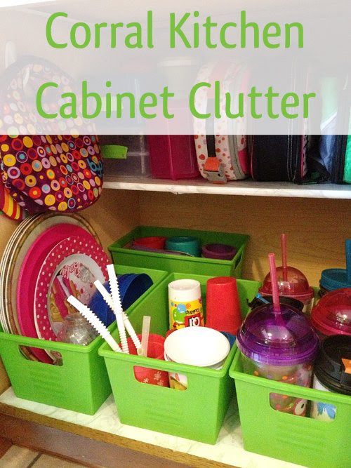 How to Organize Lunch Boxes, Thermoses, and Kid's Dishes