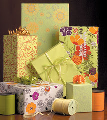 Floral Themed Gift Wrap