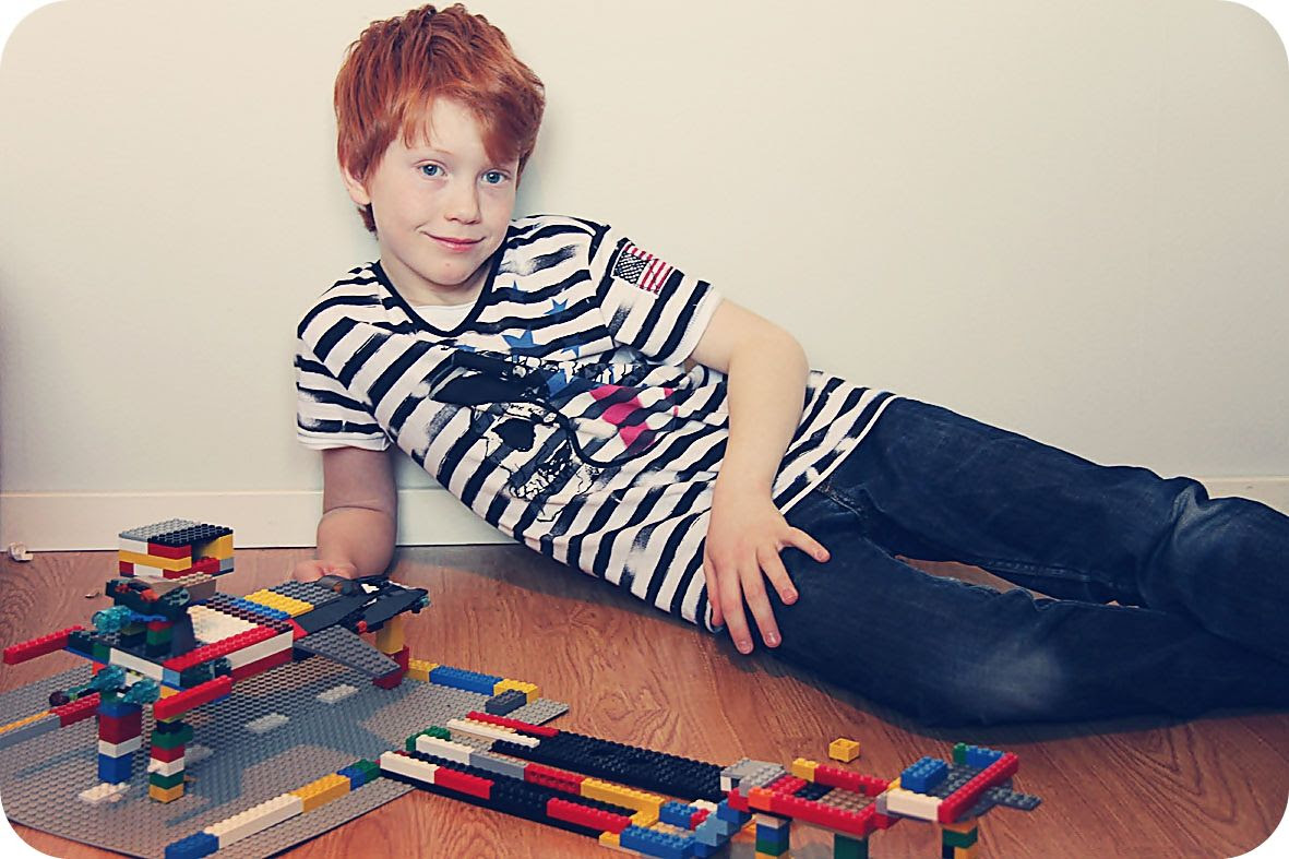2.28, Loving his LEGO!