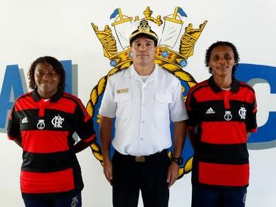 Maycon e Tânia Maranhão futebol feminino Flamengo técnico tenente Abranches (Foto: Jessica Mello / GloboEsporte.com)