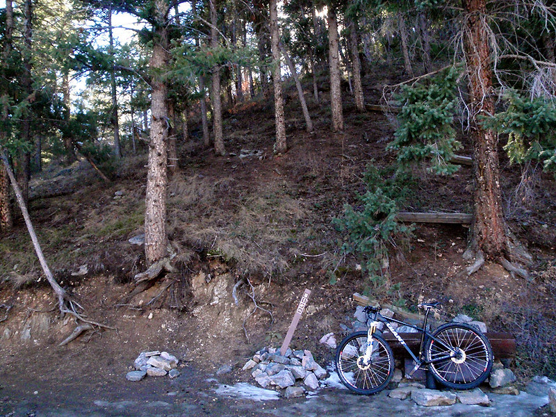 Start of Trail 800 (Colorado Trail) single-track