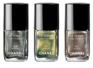 Graphite 529, Period 531 e Quartz 525, todos da Chanel