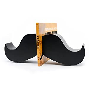 Moustache Book Ends - Funky Home Accessories - Fun and Quirky