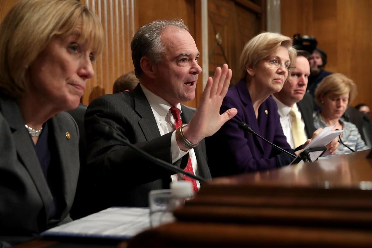 Image result for Democratic senators are going after DeVos'