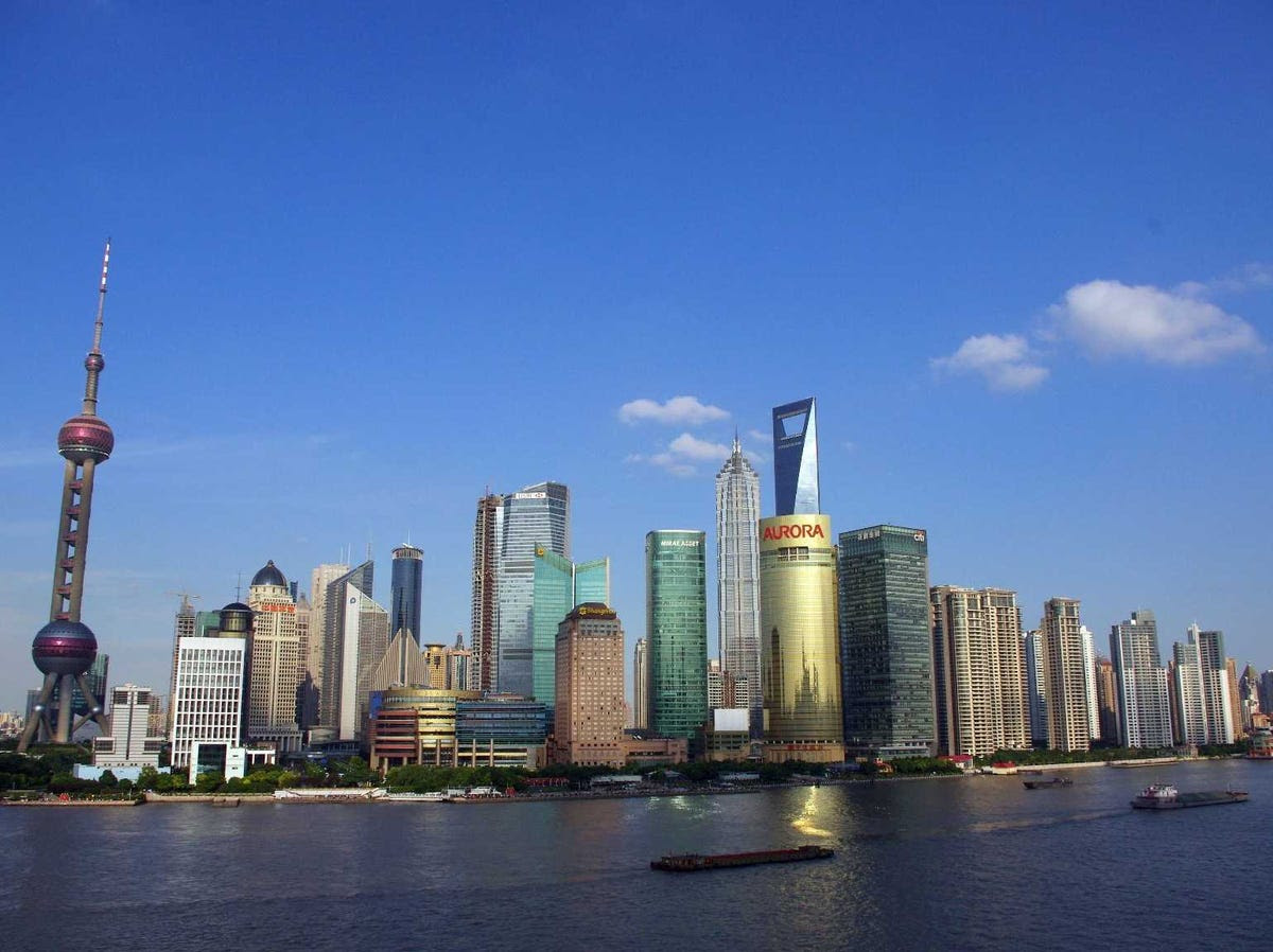 16.) SHANGHAI is mainland China's most important financial hub, climbing higher after its stock market was connected to Hong Kong's.