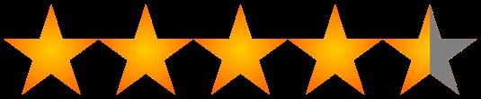 Resultado de imagen para cuatro estrellas y media de cinco