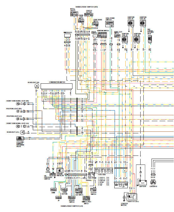 Suzuki Gsx R 1000 Service Manual Wiring Diagram Schematic And Routing Diagram Wiring Systems Body And Accessories