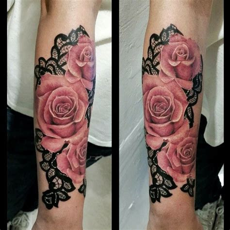 realistic rose tattoos filigree images