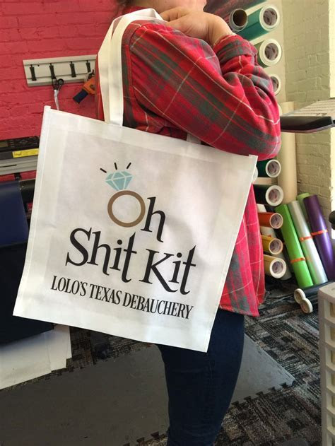 Oh Shit Kit Custom Medium Tote Bag Personalized for the