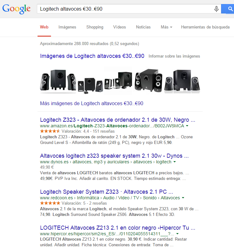 comando presupuesto google