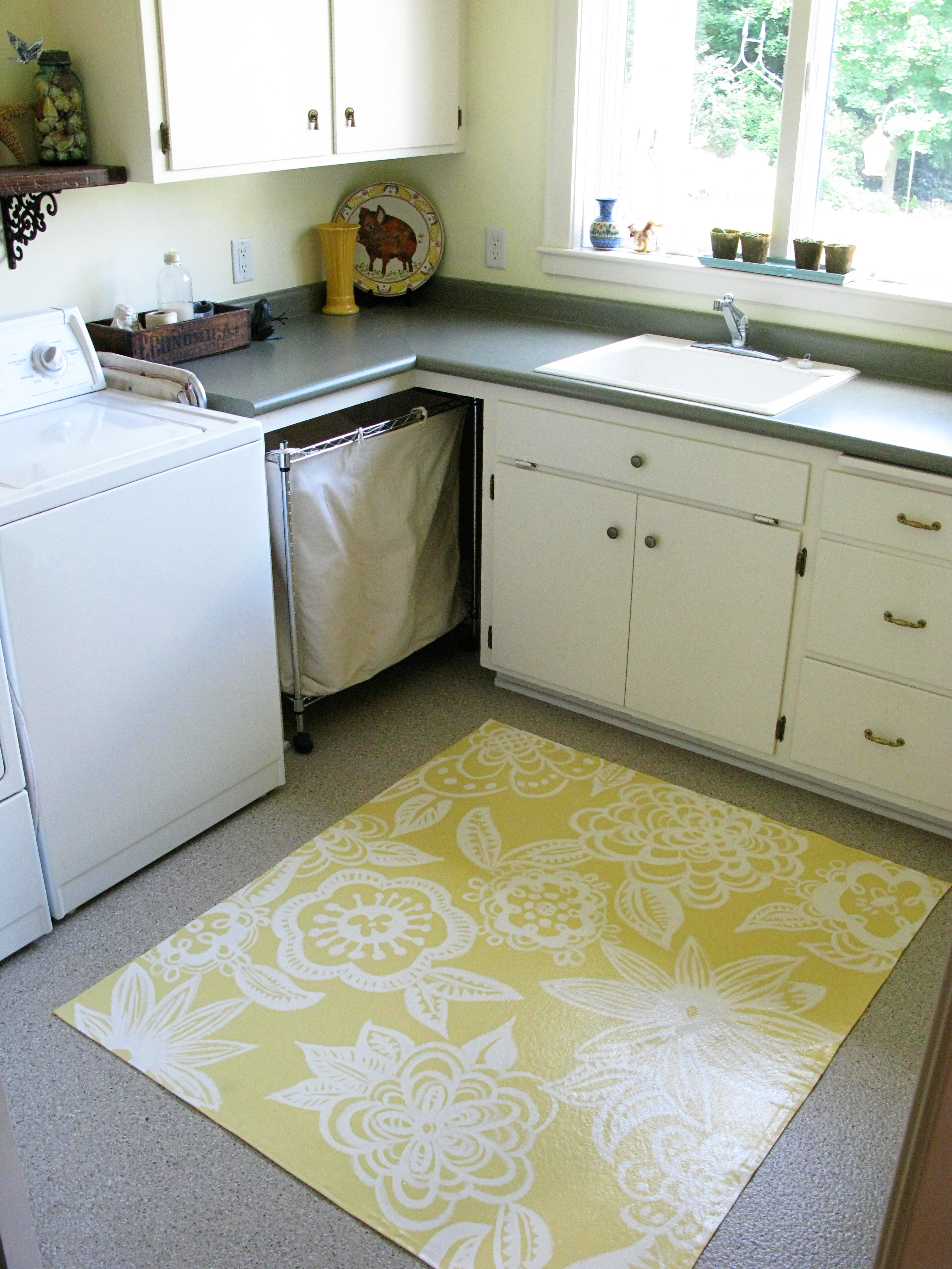 Painted Floor Cloth | Just About Home
