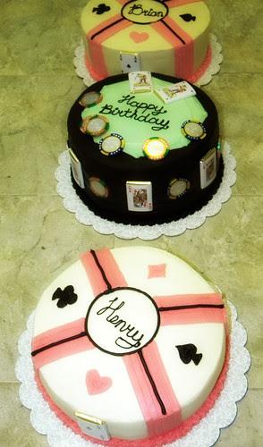 Poker Cakes