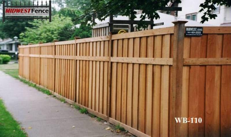 Batten Wood Private Fences Midwest Fence