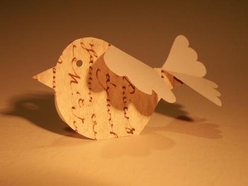 chubby paper bird