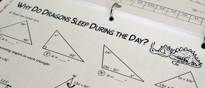Why Do Dragons Sleep During The Day Math Worksheet