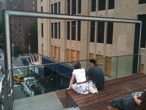 1 of the overlooks along High Line's new section