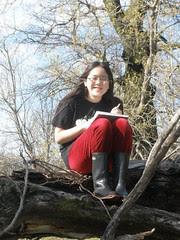 Sophia Taking a Break From Nature Journaling