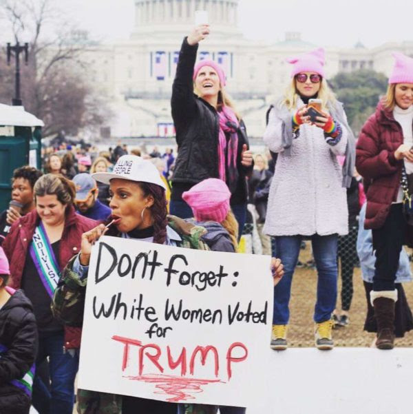 Women's March on Washington. 1/21/17. Photo: Kevin Banatte, afroCHuBBZ