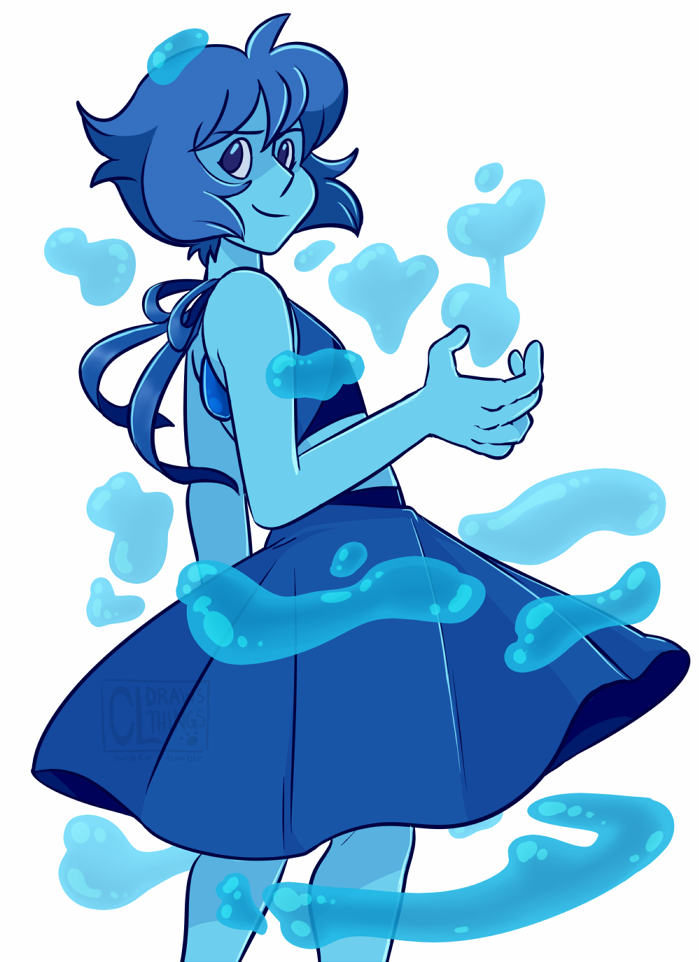 A Lapis Lazuli I drew as commissioned for someone's birthday gift!
