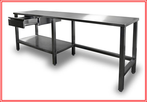 Stainless Steel Top Bakery Work Table