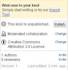 Knol Management Widget