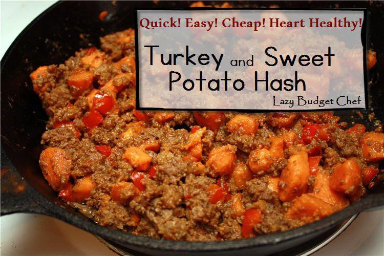 heart healthy turkey and sweet potato hash recipe