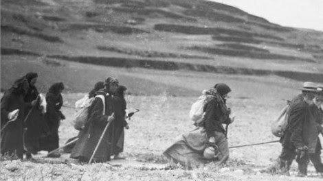 Jewish refugees en route to Israel