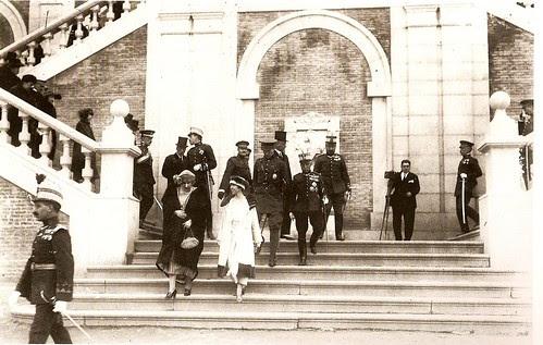 Los Reyes de Bélgica y España en Toledo en 1921 (Fotografía Rodríguez)