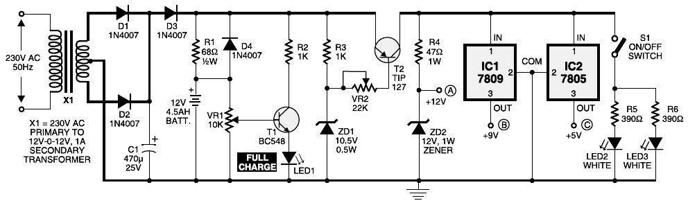 Mini Ups System Circuit Diagram Circuit Diagram Images