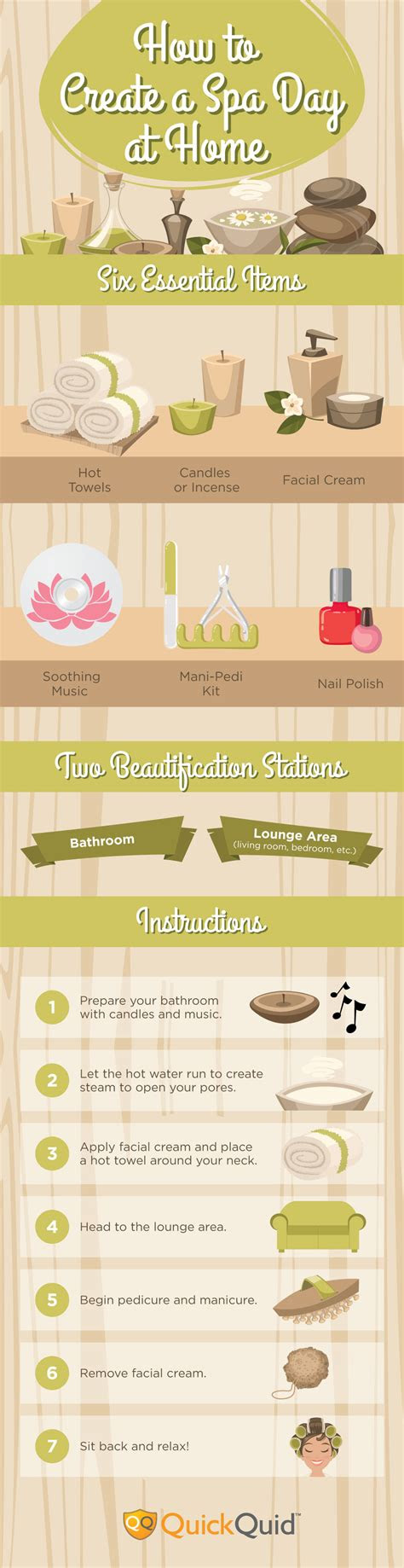 create  spa day  home infographic visualistan