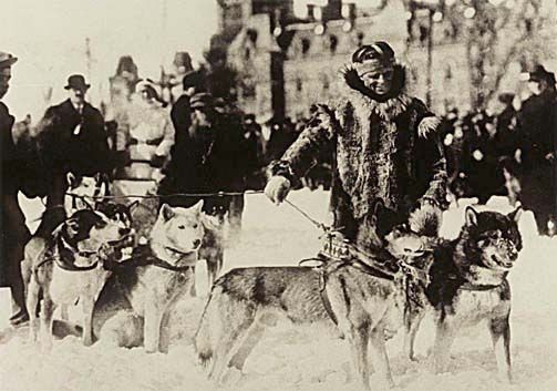Leonhard Seppala and a Team of His Sled Dogs, Leonhard Seppala and a Team of His Sled Dogs