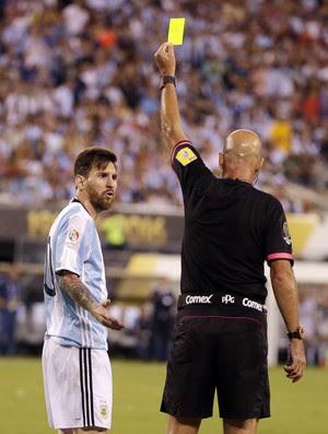 Heber Roberto Lopes Messi Argentina x Chile (Foto: AP)