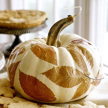 Leafy Centerpiece Pumpkin