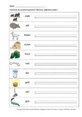 Zusammengesetzte Adjektive 3 Klasse Arbeitsblatter