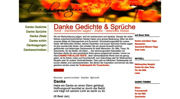 Gedichte Danke Sprueche Net Danke Gedichte Danke Schön