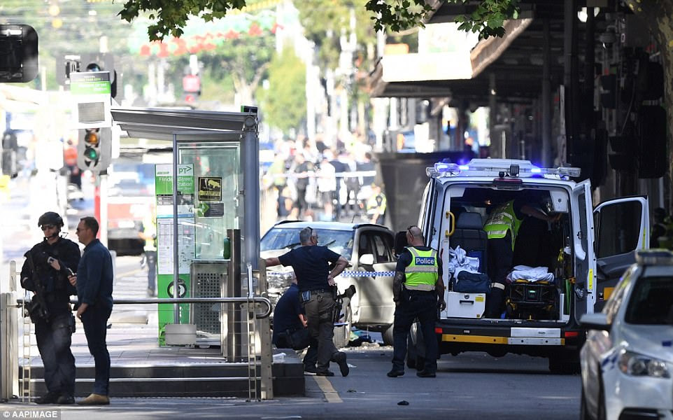 Three people were taken to The Alfred Hospital and three people were taken to the Royal Melbourne Hospital