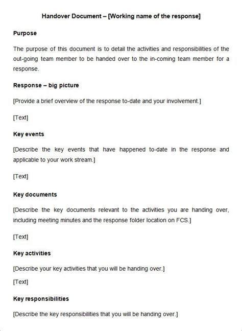 6  Handover Report Templates   Website, Wordpress, Blog