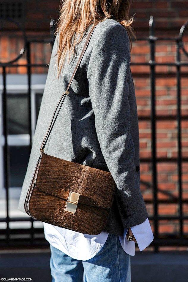Le Fashion Blog Street Style Grey Blazer Jacket Brown Celine Box Bag Fur Pony Hair Signet Pinky Ring Via Collage Vintage photo Le-Fashion-Blog-Street-Style-Grey-Blazer-Jacket-Brown-Celine-Box-Bag-Fur-Pony-Hair-Signet-Pinky-Ring-Via-Collage-Vintage.jpg
