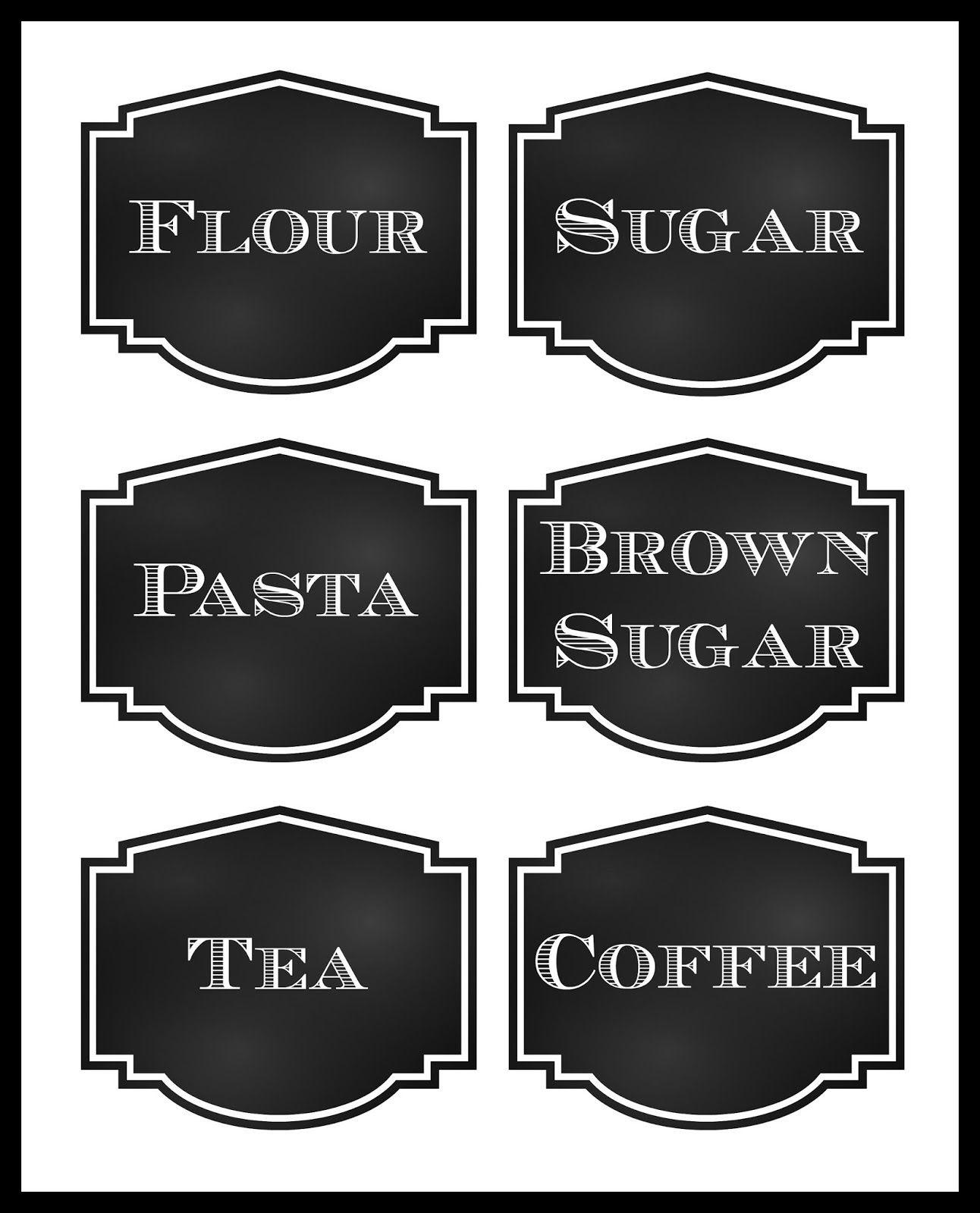 1000+ ideas about Pantry Labels on Pinterest | Kitchen labels ...