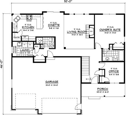 simple ranch house plans country plan  floor house