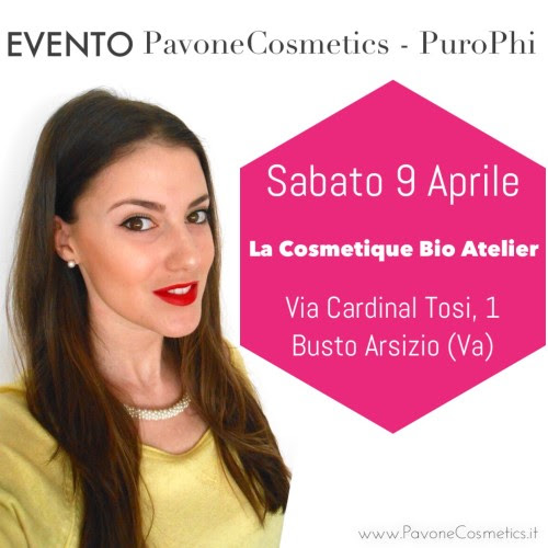 www.PavoneCosmetics.it evento pavonecosmetics purophi la cosmetique bio atelier