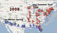 2008 travels